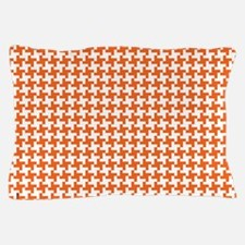 Retro Houndstooth Vintage  Orange Pillow Case
