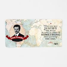 Leon Trotsky Historical Mug Aluminum License Plate