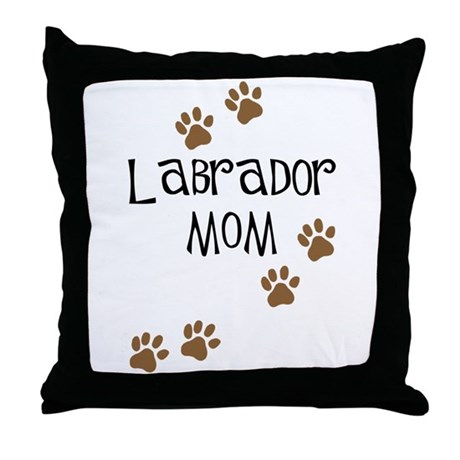 Labrador Mom Throw Pillow