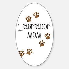 Labrador Mom Oval Decal