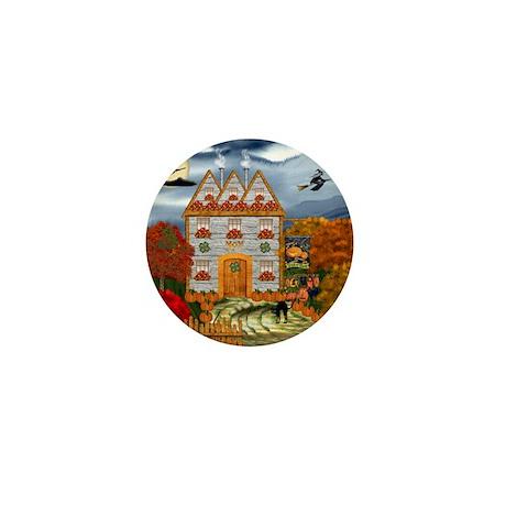 Samhain Cottage Mini Button