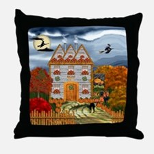 Samhain Cottage Throw Pillow