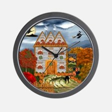 Samhain Cottage Wall Clock