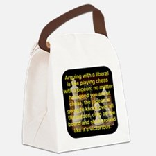 ARGUING WITH A LIBERAL IS LIKE Canvas Lunch Bag