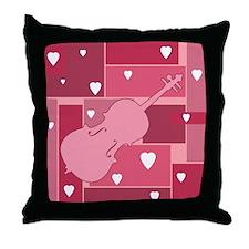 Cello Hearts - Throw Pillow