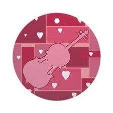 Cello Hearts - Ornament (Round)