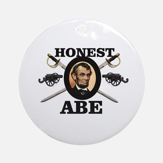 honest abe cannon Round Ornament