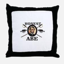 honest abe cannon Throw Pillow