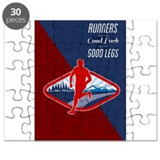 Cross Country Runner Retro Poster Puzzle