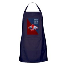 Cross Country Runner Retro Poster Apron (dark)