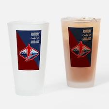 Cross Country Runner Retro Poster Drinking Glass