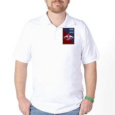 Cross Country Runner Retro Poster T-Shirt