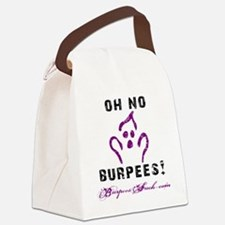 OH NO BURPEES - WHITE Canvas Lunch Bag