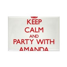 Keep Calm and Party with Amanda Magnets