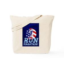 American Marathon Achieve Something Poster Tote Ba