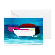 Bathtub Mermaid Greeting Card