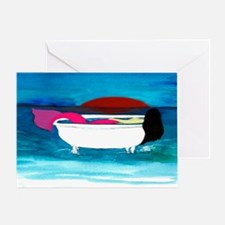 Bathtub Mermaid Greeting Card