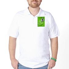 Male Marathon Runner Retro Poster T-Shirt