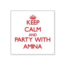 Keep Calm and Party with Amina Sticker