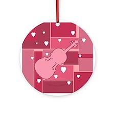 Viola Hearts - Ornament (Round)