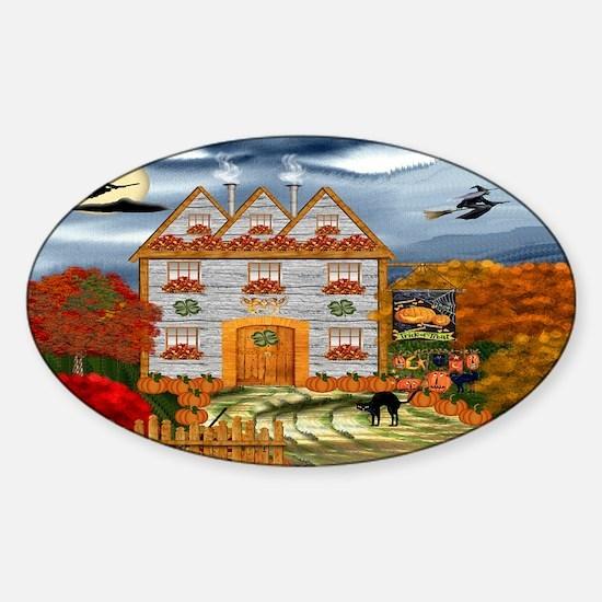Samhain Cottage Sticker (Oval)