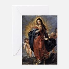 Unique Immaculate conception Greeting Card