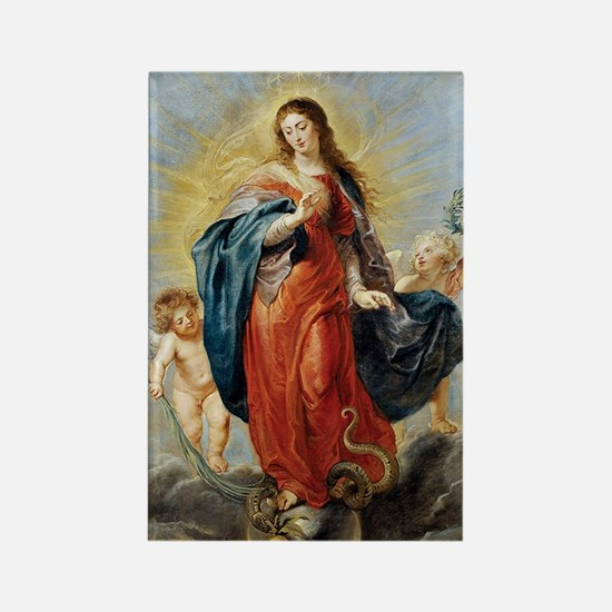 Cute Immaculate conception Rectangle Magnet
