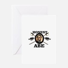 honest abe cannon Greeting Cards