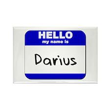 hello my name is darius Rectangle Magnet