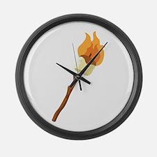 Marshmallow Roast Large Wall Clock