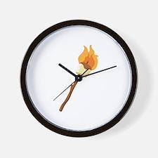 Marshmallow Roast Wall Clock