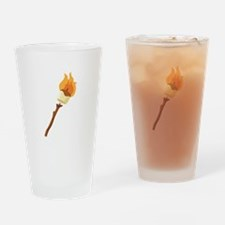 Marshmallow Roast Drinking Glass