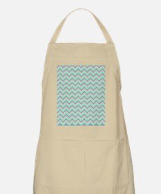 Pink,lime,and Gray Chevrons Apron