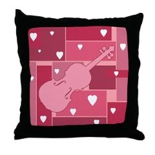 Violin Hearts - Throw Pillow