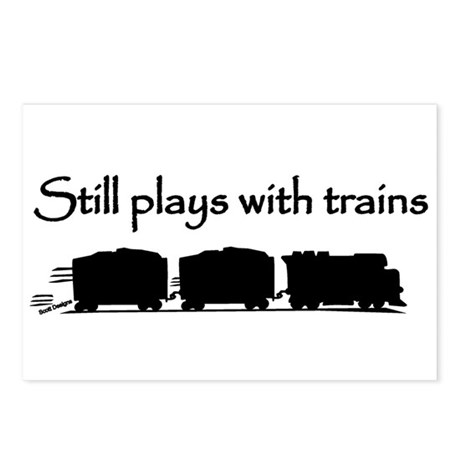 Still Plays With Trains Postcards (Package of 8)