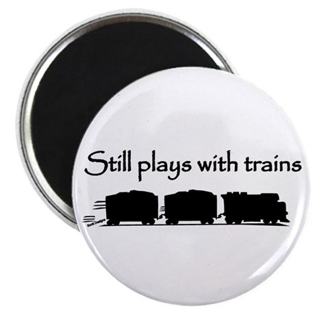 """Still Plays With Trains 2.25"""" Magnet (10 pack)"""