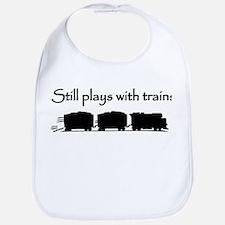 Still Plays With Trains Bib