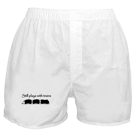 Still Plays With Trains Boxer Shorts