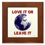 Love It or Leave It Framed Tile