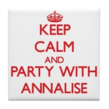 Keep Calm and Party with Annalise Tile Coaster
