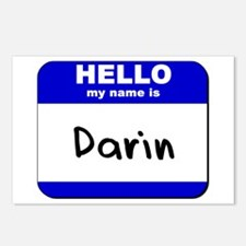 hello my name is darin  Postcards (Package of 8)