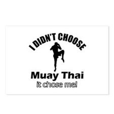 I didn't choose muay thai Postcards (Package of 8)