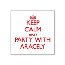 Keep Calm and Party with Aracely Sticker