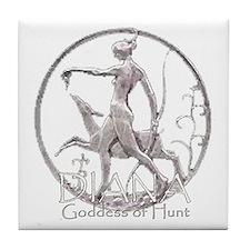 Diana: Goddess of the hunt Tile Coaster
