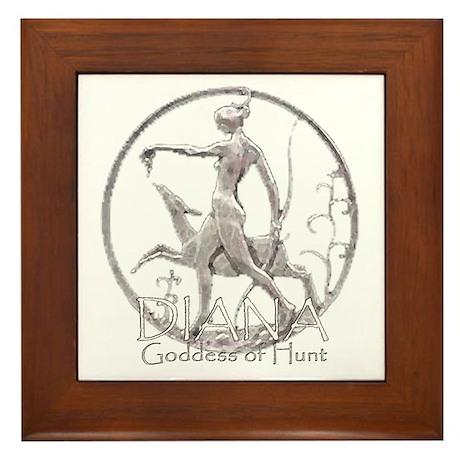 Diana: Goddess of the hunt Framed Tile
