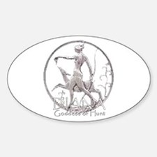 Diana: Goddess of the hunt Oval Decal