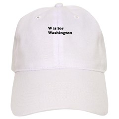 W is for Washington Baseball Cap