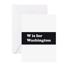 W is for Washington Greeting Cards (Pk of 10)