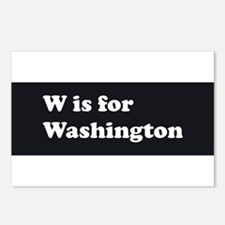 W is for Washington Postcards (Package of 8)