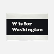 W is for Washington Rectangle Magnet